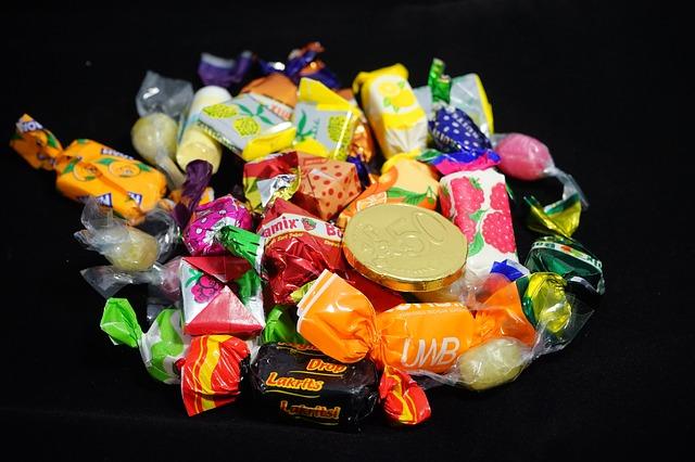 sladkosti, bonbóny, čokoládová mince, euro centy